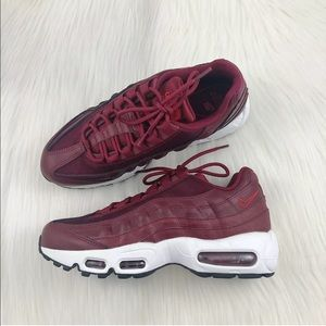 Women's Nike Air Max 95 LX Red Sneakers